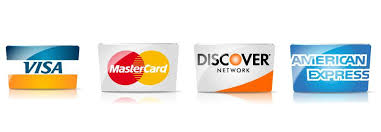 We accept major all major credit cards